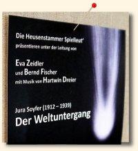 """""""Der Weltuntergang"""" von Jura Soyfer–Musik von Hartwin Dreier"""