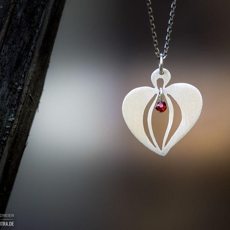 Yoni-Herz ein starkes Symbol