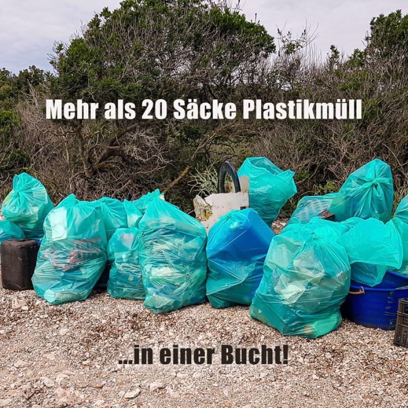 Gesammelter Plastikmüll